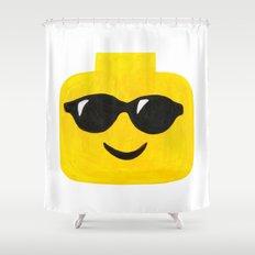 Sunglasses - Emoji Minifigure Painting Shower Curtain