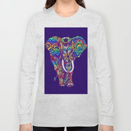 Not a circus elephant #violet by #Bizzartino Long Sleeve T-shirt