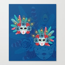 Carnival face mask Canvas Print