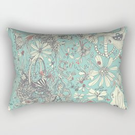 Deep Sea Green Rectangular Pillow