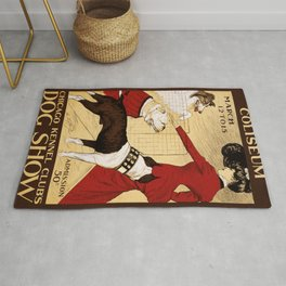 Vintage poster - Chicago Kennel Club's Dog Show Rug