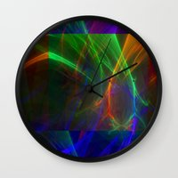 lightning Wall Clocks featuring lightning by donphil