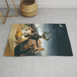The Sabbath of Witches Goya Painting Rug