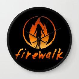 Firewalk Wall Clock