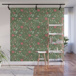 Pattern design with floral elements Wall Mural