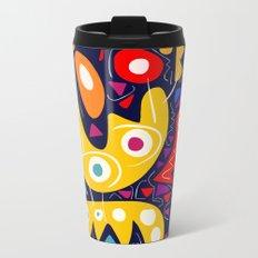 Night Life Abstract Art pattern decoration Metal Travel Mug