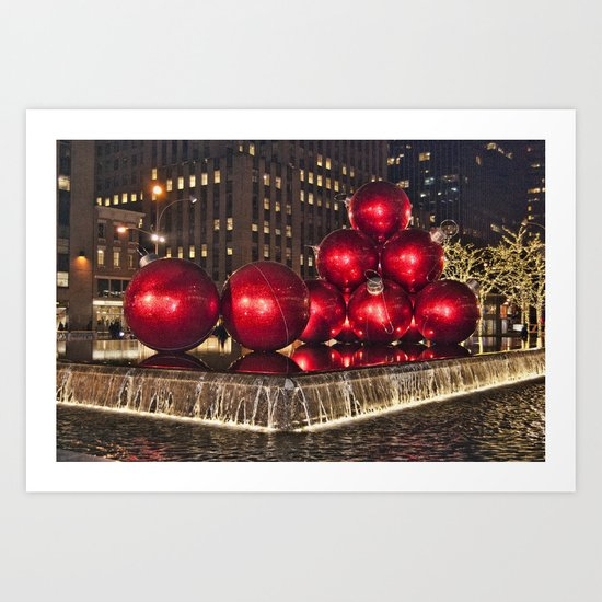 Christmas On 5th Avenue Manhattan Art Print