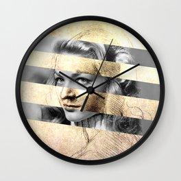 "Leonardo Da Vinci's ""Head of a Woman"" & Lauren Bacall Wall Clock"