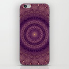 Mandala in pink, violet and red tones iPhone Skin