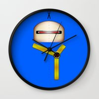 cyclops Wall Clocks featuring Cyclops by Oblivion Creative