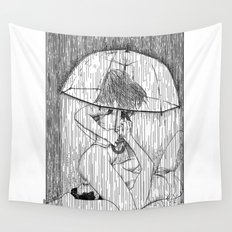 asc 514 - La fille qui aimait la pluie (Rider on the storm) Wall Tapestry
