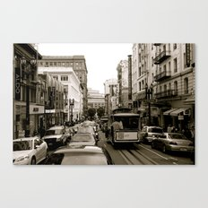 San Francisco Street B&W Canvas Print