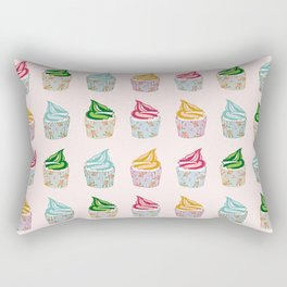 Cute as a multicoloured cupcakes! Rectangular Pillow