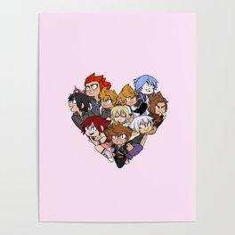 Trio Heart Poster