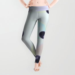 Plums Pattern Leggings