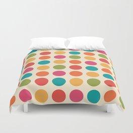 Mid Century Color Dots Duvet Cover