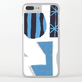 Blue Jazz Clear iPhone Case