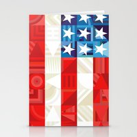 america Stationery Cards featuring America by Fimbis