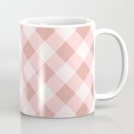Diagonal buffalo check pale pink Coffee Mug