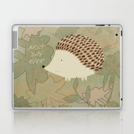 Hedgehog Best Day Ever Laptop & iPad Skin