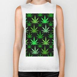 Marijuana Green Weed Biker Tank