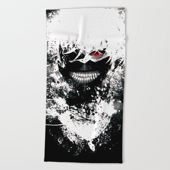 Kaneki Tokyo Ghoul Beach Towel