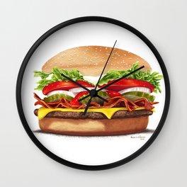 Bacon Cheeseburger by dana alfonso Wall Clock