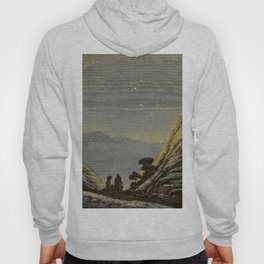 Astronomy for amateurs - 1904 Star Night Sky Landscape Hoody