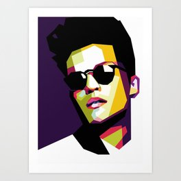 BrunoMars In WPAP Art Print
