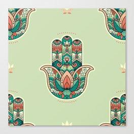 Hamsa Hand Pattern Canvas Print