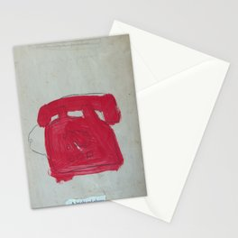 A Bright Red Phone Stationery Cards