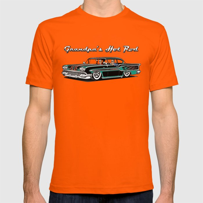 Hot Rod T Shirts >> Grandpa S Hot Rod T Shirt By Screamnjimmy Society6