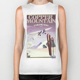 Copper Mountain colorado vintage poster Biker Tank
