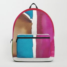 180811 Watercolor Block Swatches 6| Colorful Abstract |Geometrical Art Backpack