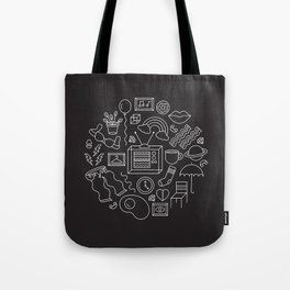 HE'S NOT A TELEVISION WATCHER Tote Bag