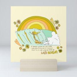surf legend leah dawson sea love retro surf art by surfy birdy Mini Art Print