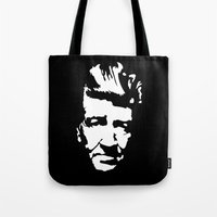 david lynch Tote Bags featuring David Lynch by Spyck