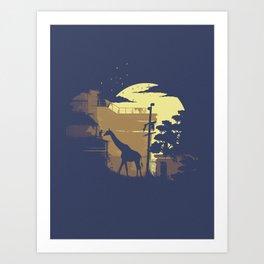 Ellie's Giraffe Art Print