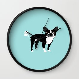 Boston Terrier funny fart dog pure breed gifts dog lovers Wall Clock