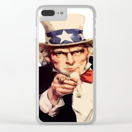 America uncle sam impersonation Clear iPhone Case