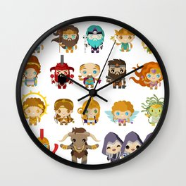 chibi kawaii gods of the greek mythology Wall Clock