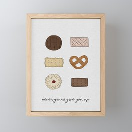 Never Gonna Give You Up, Kitchen Decor Framed Mini Art Print