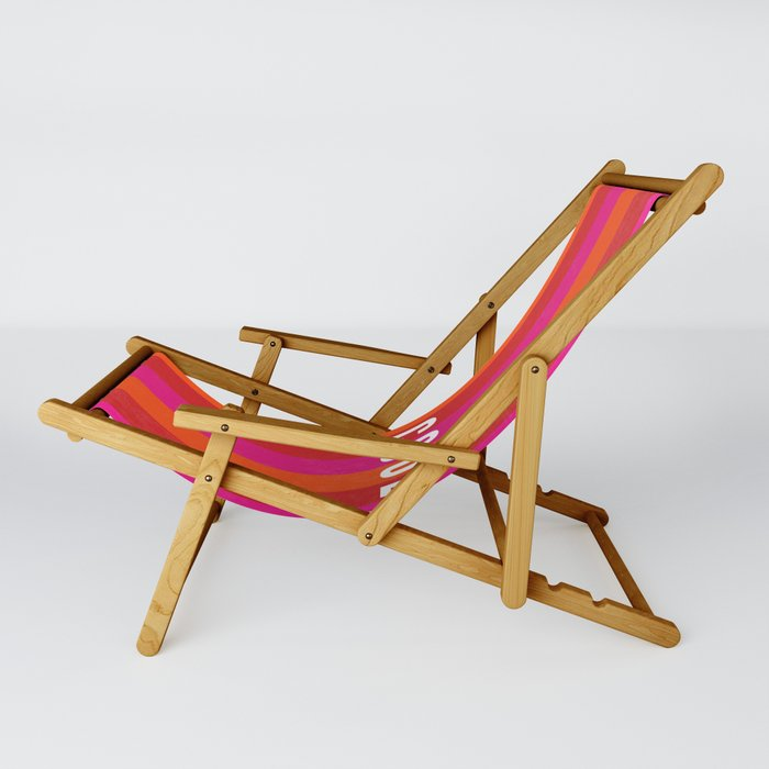 Cool Type on Warm Colors Sling Chair