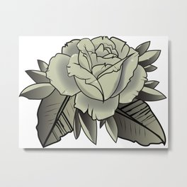 Tattoo Rose Metal Print