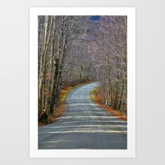 Montgomery Mountain Road Art Print