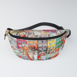 Gdansk Poland Watercolor Fanny Pack