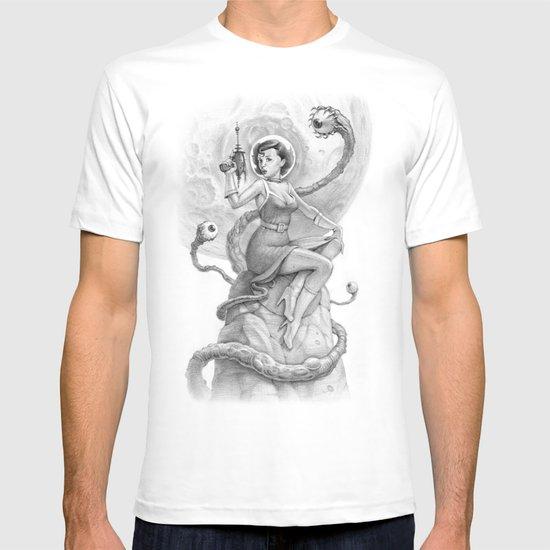 Astro Babe B&W T-shirt