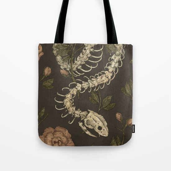 Snake Skeleton Tote Bag