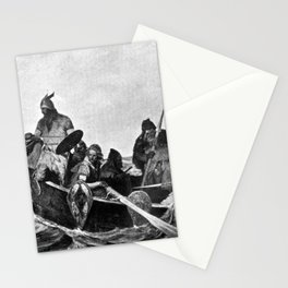 Vikings Landing in Iceland Illustration (1909) Stationery Cards