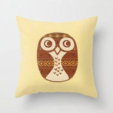 Navajo Owl  Throw Pillow
